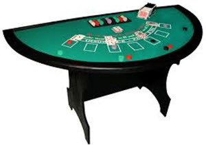 Single man craps table
